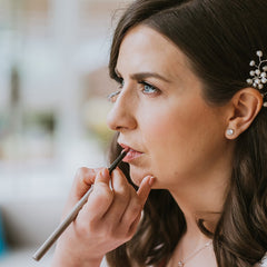 bridal make up application