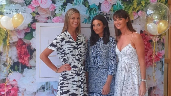 Co founders (from left to right) Leah, Sara & Lynsey at a recent Lusso Tan fundraiser event for PIPS