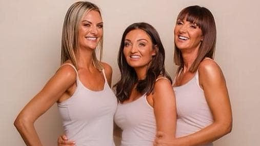 Co founders (from left to right) Leah, Sara & Lynsey at a recent photoshoot for Lusso Tan.