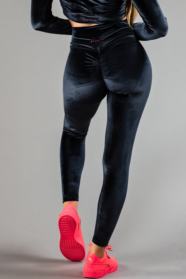 Agent84 VELVET ULTIMATE SCRUNCH TIGHT - LICORICE  - The Sweat Store