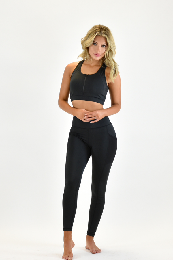 The Sweat Store exclusive HW POCKET ME LEGGING - Black  - The Sweat Store