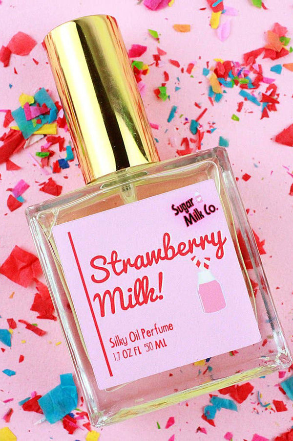 SUGAR MILK CO. PERFUME HAIR & BODY OIL - STRAWBERRY MILK  - The Sweat Store