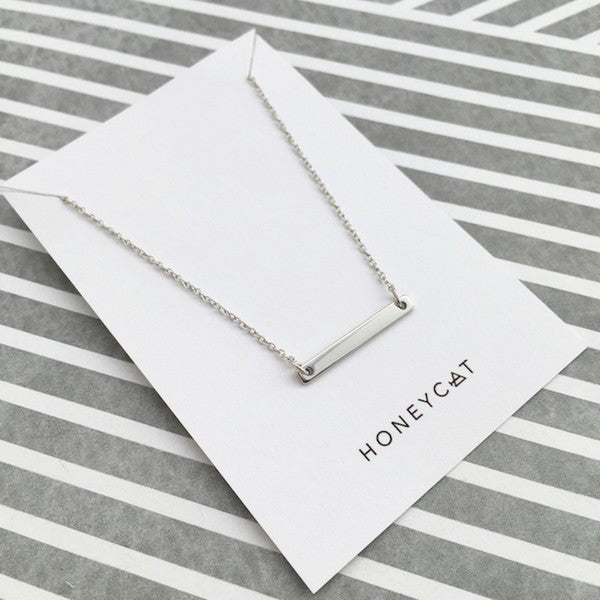 The Sweat Store exclusive Favorite Mini Bar Necklace - SILVER  - The Sweat Store