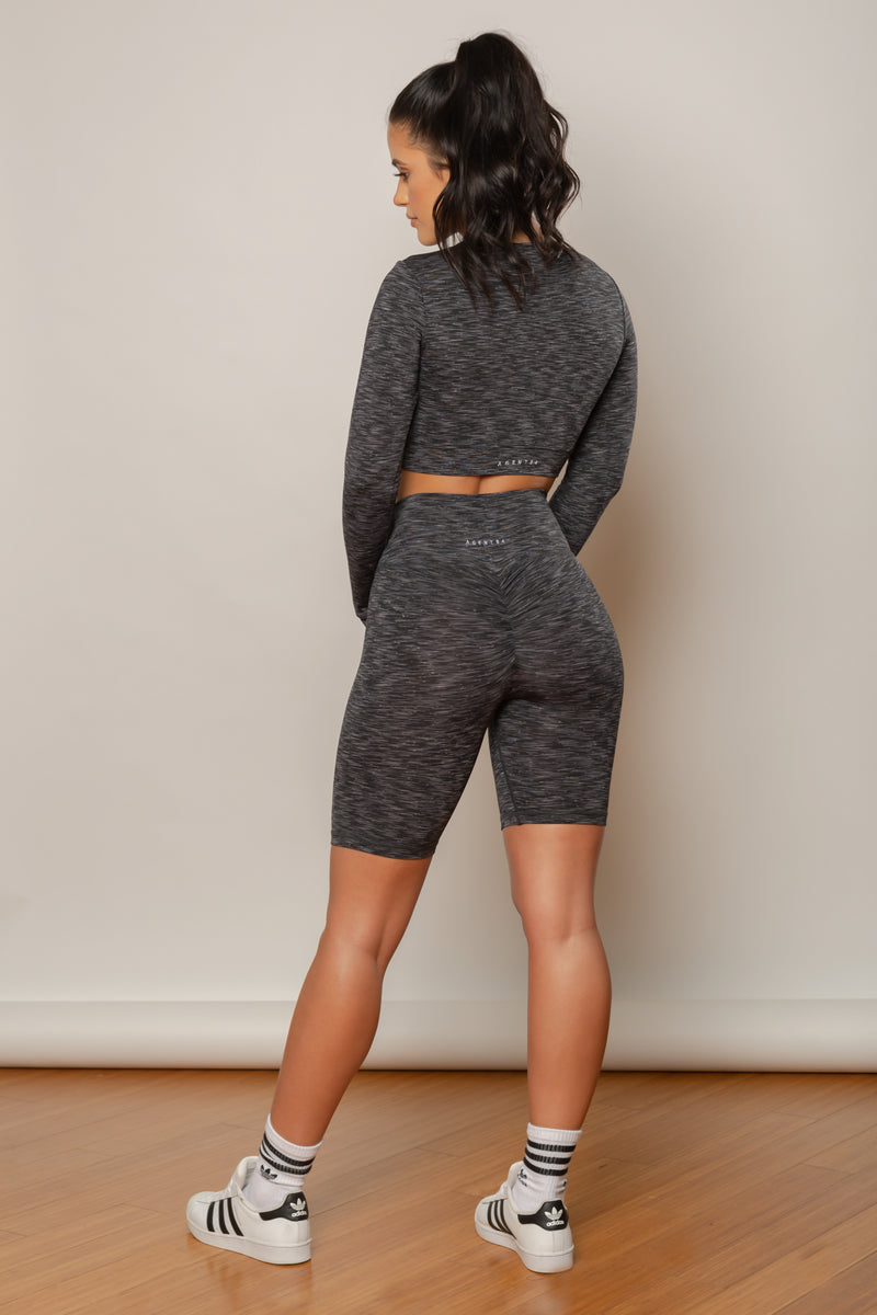 Agent84 SCRUNCH BIKER SHORT - Storm  - The Sweat Store