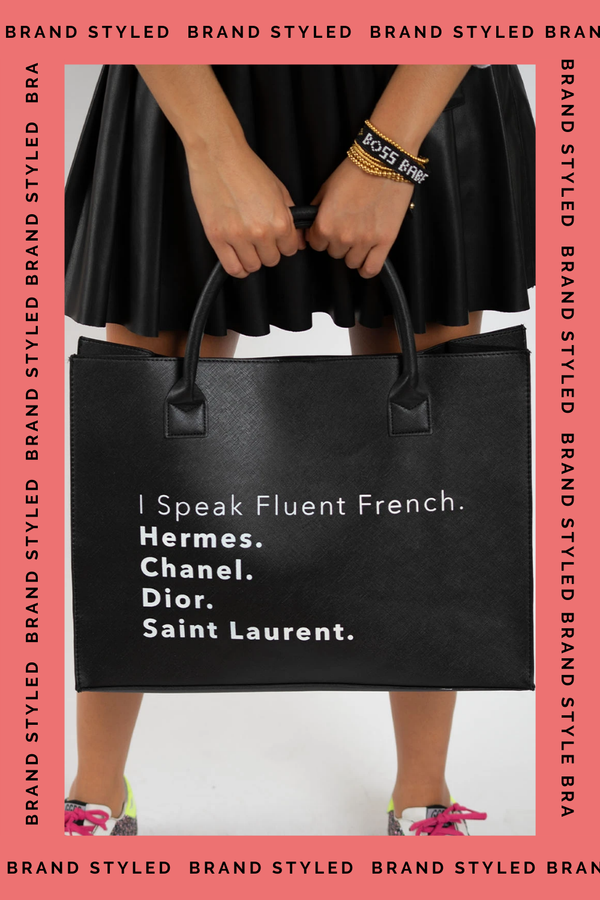 LA Trading Co MODERN VEGAN TOTE - Fluent French Black  - The Sweat Store