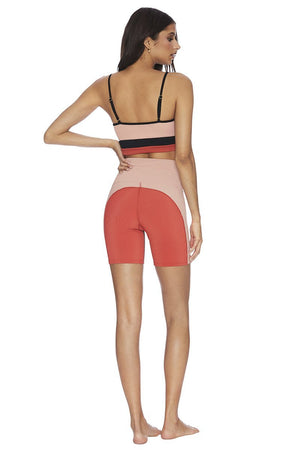 BEACH RIOT RIBBED BIKER SHORT - Pink  - The Sweat Store
