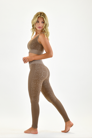 The Sweat Store exclusive SLITHER LEGGING - Taupe  - The Sweat Store