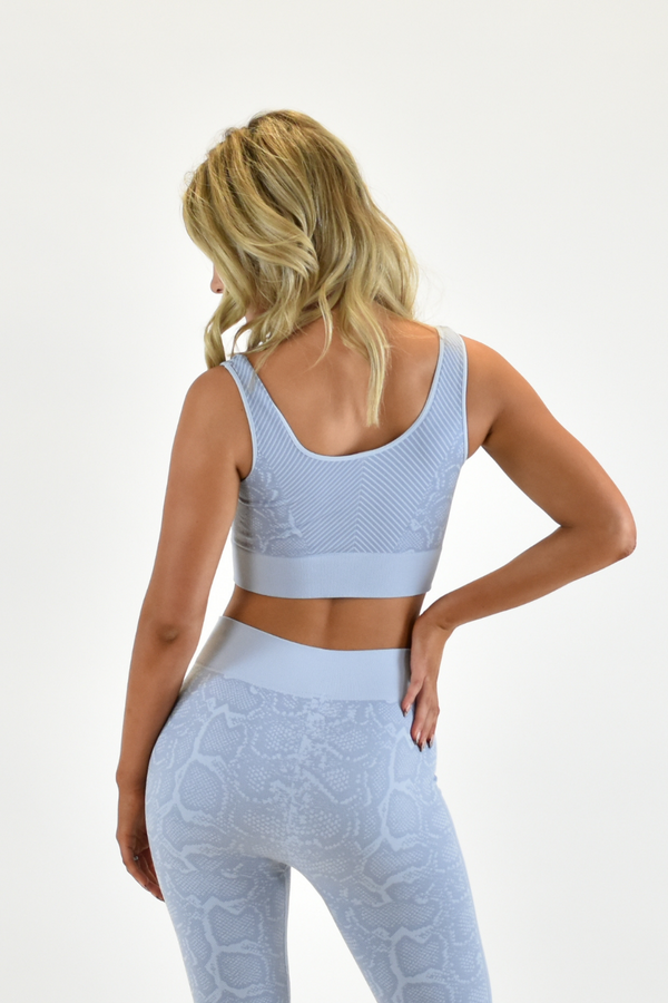 The Sweat Store exclusive SLITHER BRA TOP - Powder Blue  - The Sweat Store