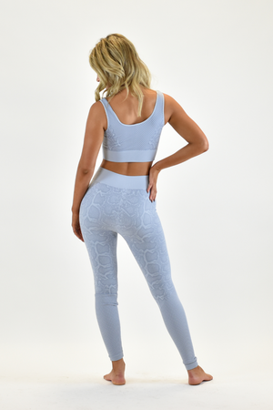 The Sweat Store exclusive SLITHER LEGGING - Powder Blue  - The Sweat Store
