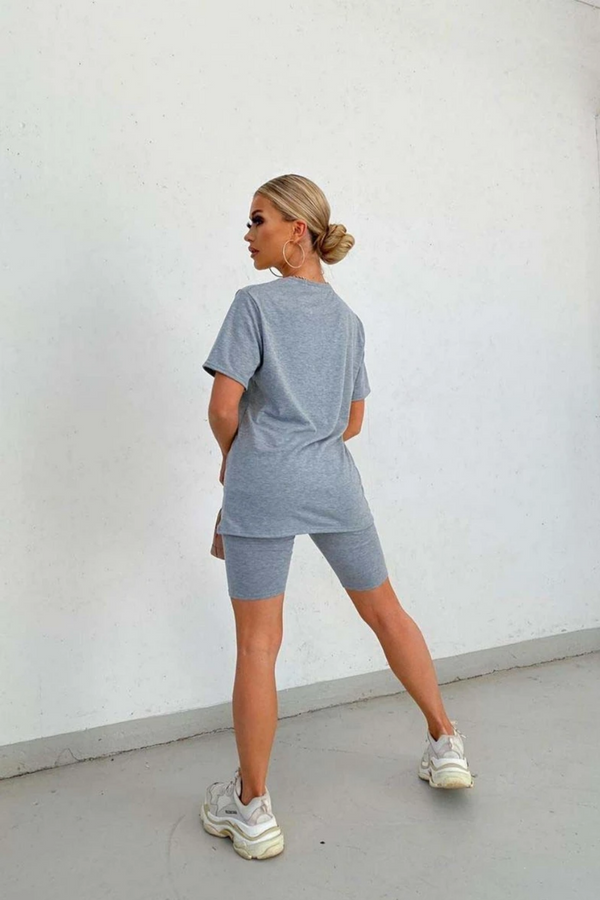 The Sweat Store exclusive PARIS SHORTS - Grey  - The Sweat Store