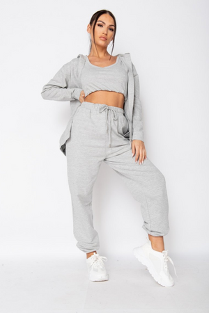 The Sweat Store exclusive BECKY LOUNGE HOODIE - Grey  - The Sweat Store
