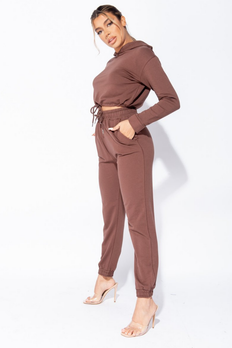 The Sweat Store exclusive PARISIAN GIRL JOGGER - Brown  - The Sweat Store