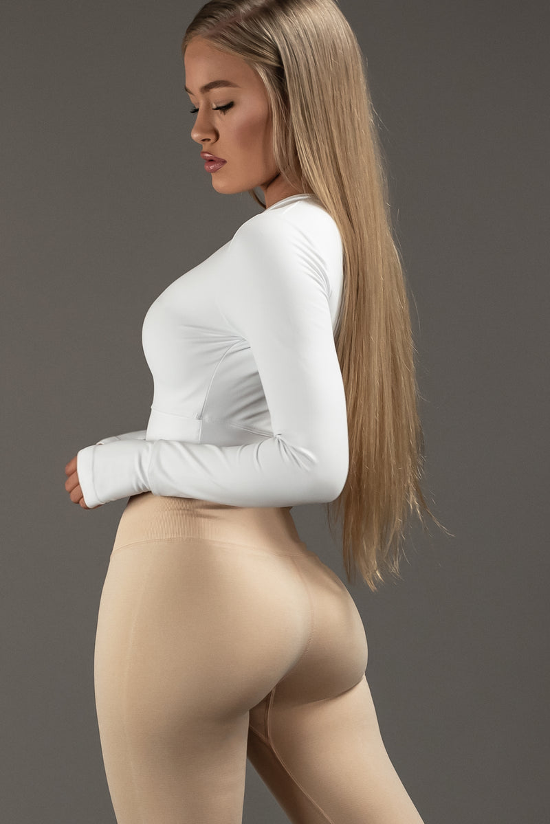 The Sweat Store exclusive PLAIN JANE HIGH RISE LEGGING - NUDIST  - The Sweat Store