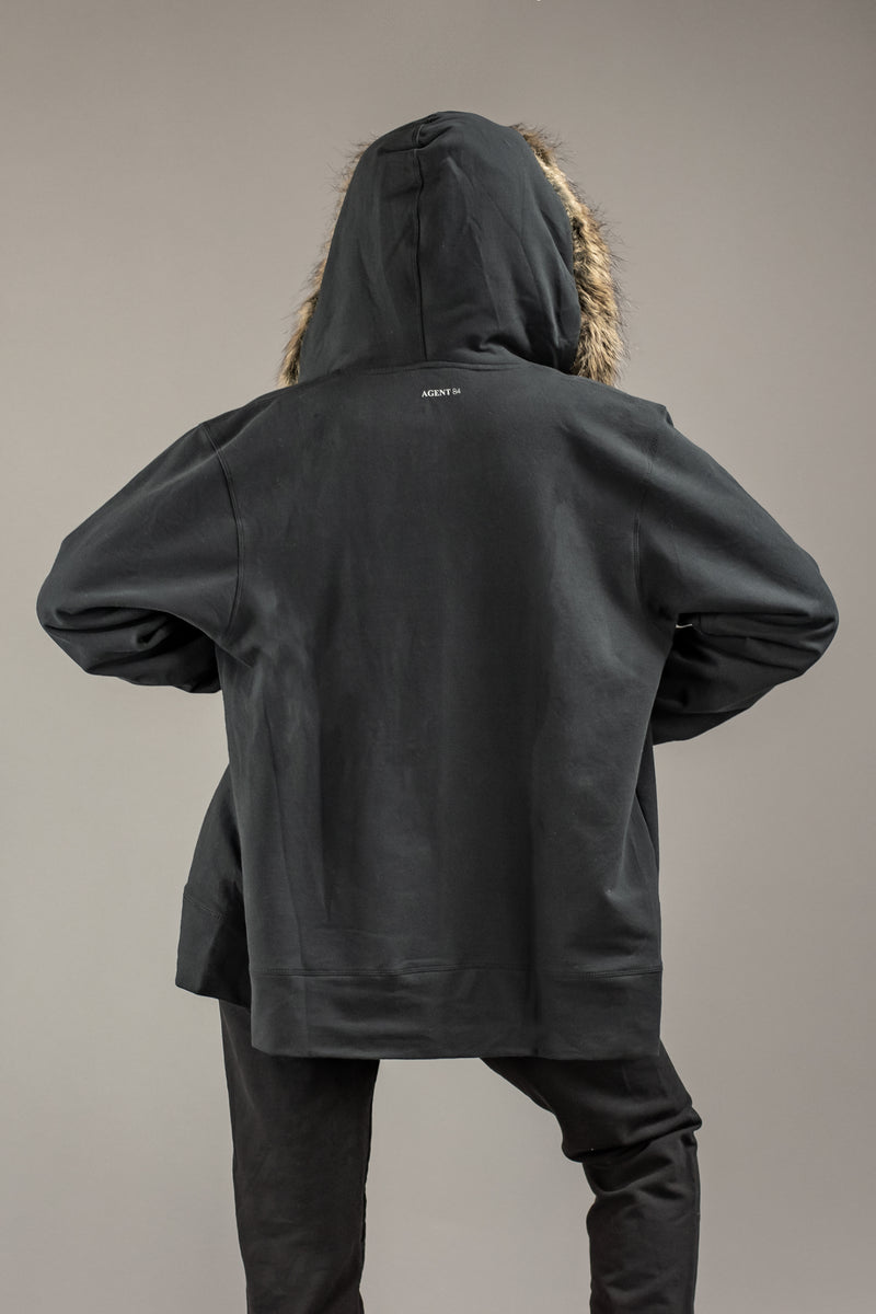 Agent84 COMPTON HOODIE - WASHED SOOT  - The Sweat Store