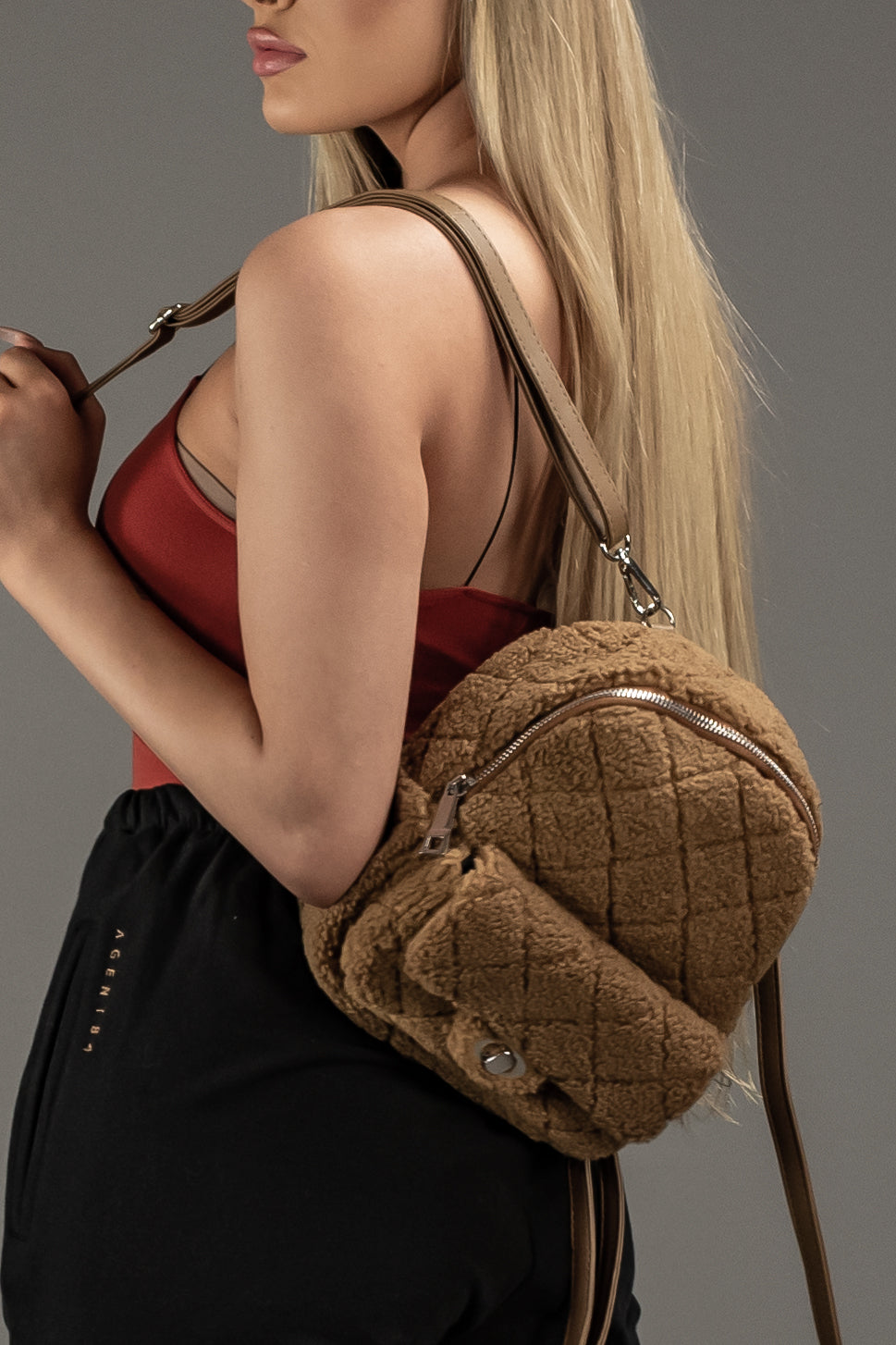 THE DRIP MINI BACKPACK - TEDDY  - The Sweat Store