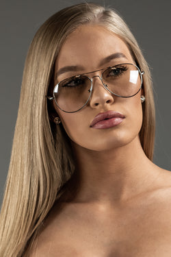 The Sweat Store exclusive BAE SUNNIES - CLEAR/SILVER  - The Sweat Store