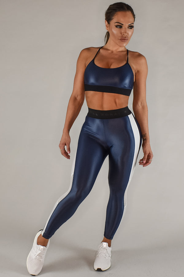 KORAL SWEEPER SPORTS BRA - MIDNIGHT BLUE  - The Sweat Store