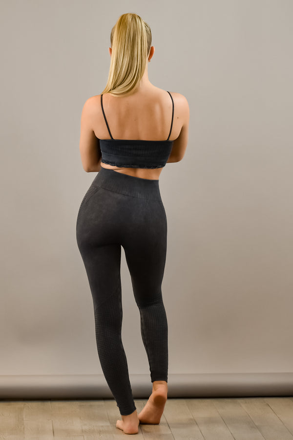 The Sweat Store exclusive 7/8 VINTAGE LEGGING - Vintage Black  - The Sweat Store