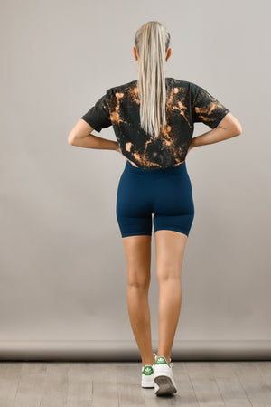 The Sweat Store exclusive BABE BIKER SHORTS - NAVY  - The Sweat Store