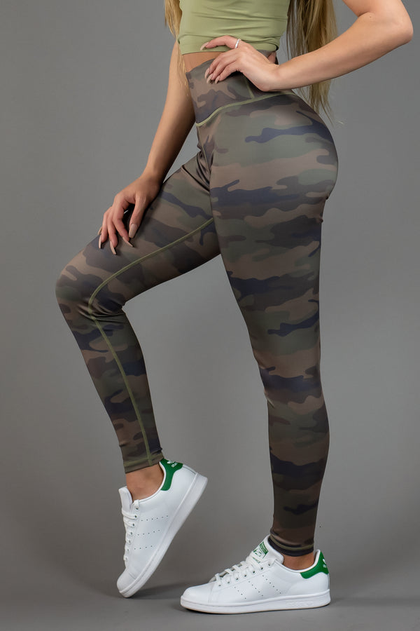 The Sweat Store exclusive GI JANE LEGGING - CAMO  - The Sweat Store