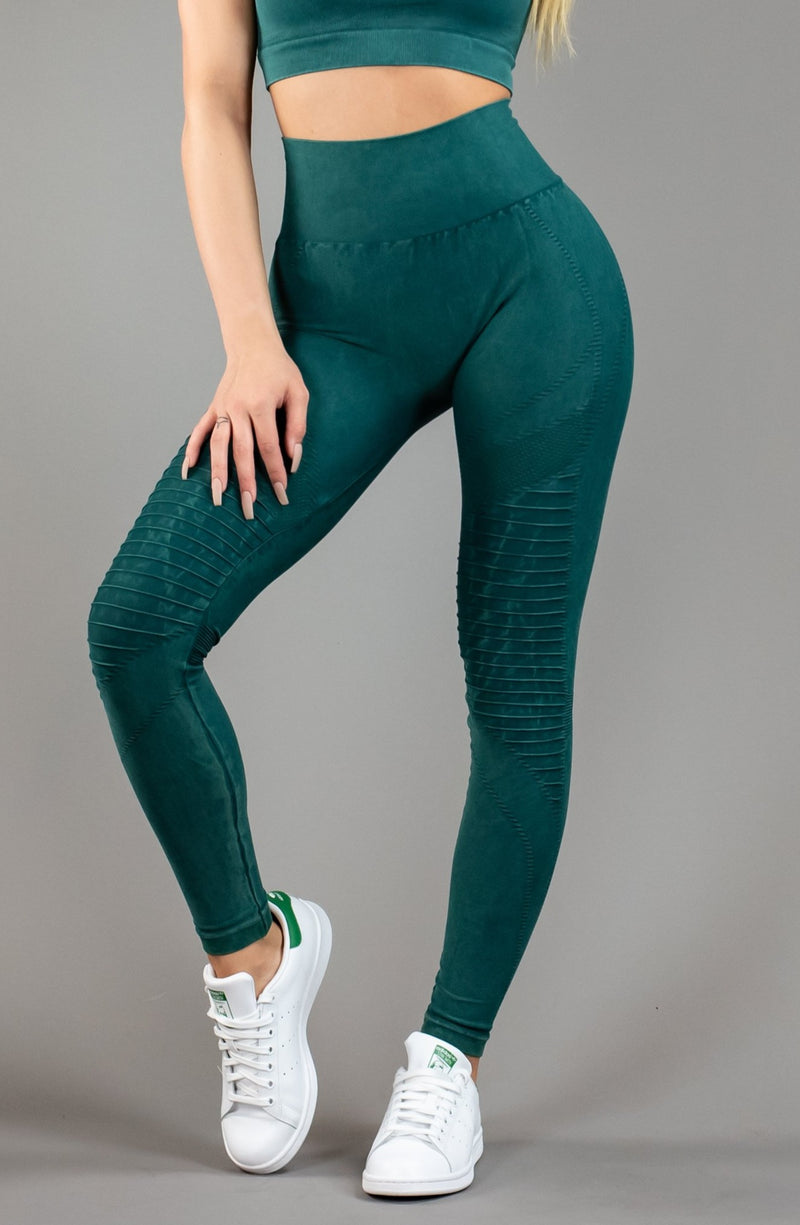 The Sweat Store exclusive SEAMLESS MOTO - VINTAGE JADE  - The Sweat Store