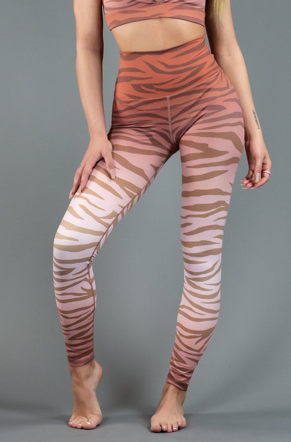 BEACH RIOT JUNGLE PIPER LEGGING - RUST  - The Sweat Store