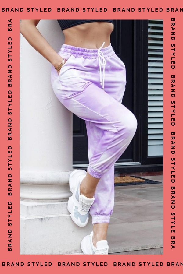 The Sweat Store exclusive TIE DYE JOGGERS - Lilac  - The Sweat Store
