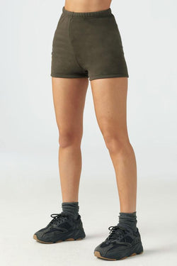 Joah Brown FITTED SWEAT SHORT - Army French Terry  - The Sweat Store