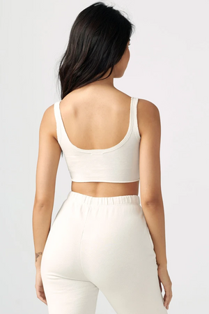 Joah Brown SPORTY CROP - Off White Cotton  - The Sweat Store