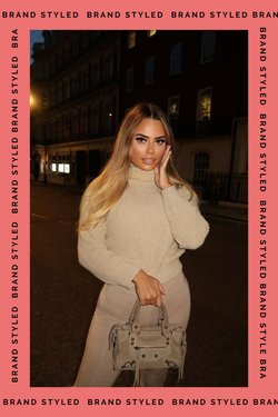 The Sweat Store exclusive CHUNKY TURTLENECK - Beige  - The Sweat Store