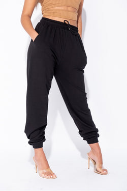The Sweat Store exclusive KIKI OVERSIZED JOGGER - Black  - The Sweat Store