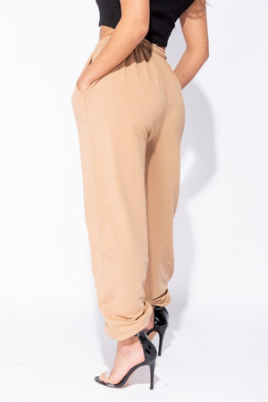 The Sweat Store exclusive KIKI OVERSIZED JOGGER - Camel  - The Sweat Store