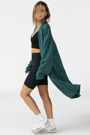 Joah Brown ETOILE CARDIGAN - JADE FRENCH TERRY  - The Sweat Store