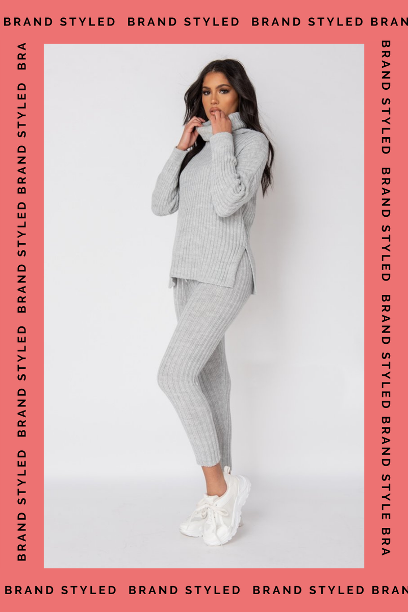 The Sweat Store exclusive COZY TIME KNIT JOGGER - Grey  - The Sweat Store