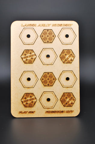 Forbidden city hexagon bases