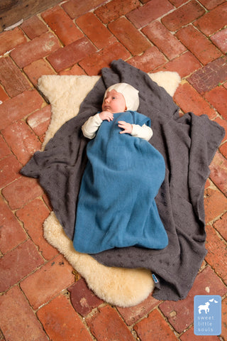 Organic Merino Fleece Zip Up Sleeping Bag, Winter