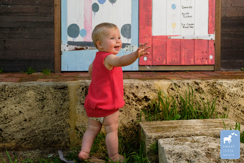 Organic Merino Baby Dress and Vest in one