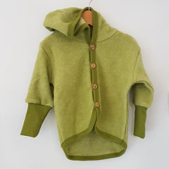 Merino Wool Fleece Hooded Jacket
