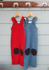 LAST ONES! Organic Merino Fleece Overalls with Knee Pads