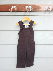Grey Fleece Overalls with Knee Pads
