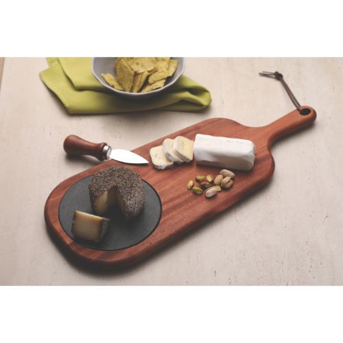 Tramontina African Mahogany Cheese Board With Handle & Stone