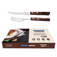 Load image into Gallery viewer, 12PC Brown Polywood Traditional Steak Set