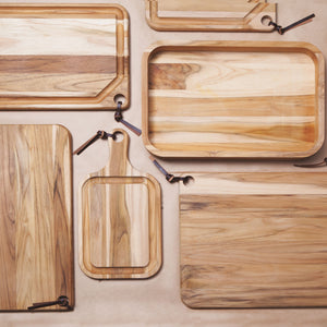 Tramontina Teak Wood Cutting Board with Handle - 400x210mm