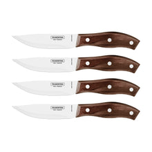 Load image into Gallery viewer, 4Pc Brown Polywood Rio Grande Steak Knife Set