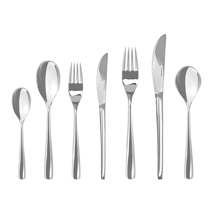 NEW 56PC CRYSTAL CUTLERY SET