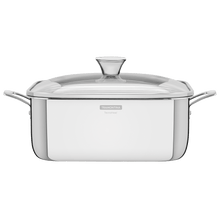 Load image into Gallery viewer, Tramontina Grano 28 cm 7.3 L Stainless Steel Square Casserole