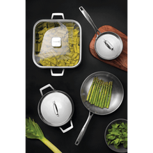 Load image into Gallery viewer, Tramontina Grano stainless steel frying pan set tri-ply body and long handle 2 Pc.