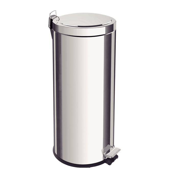Tramontina 30L  Stainless Steel Pedal Trash Bin