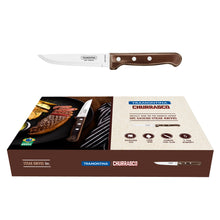Load image into Gallery viewer, 6Pc Brown Polywood Gaucho Steak Knife