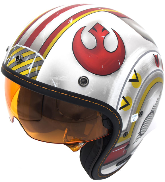 HJC X-Wing Fighter Pilot Motorcycle Helmet Unisex-Adult Open-face DOT Star Wars